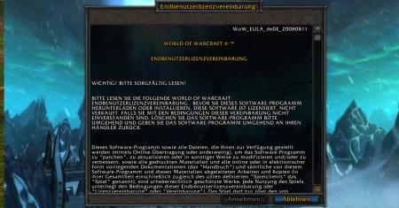 Warcraft EULA