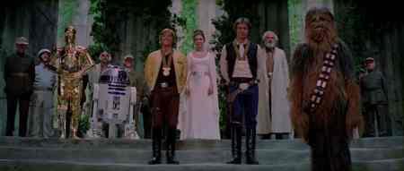 Star Wars End medal ceremony