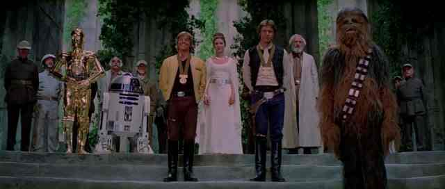 Star Wars End medal ceremony