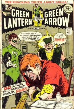 Green Lantern/Green Arrow #85, de Denny O'Neil e Neil Adams.
