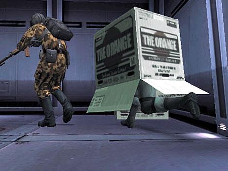 metal gear cardboard box