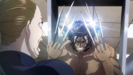 xmen anime madhouse marvel  wolverine airport