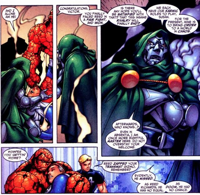 Doom defeats Richards Fantastic four 31