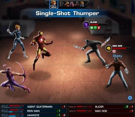 Avengers Alliance combat