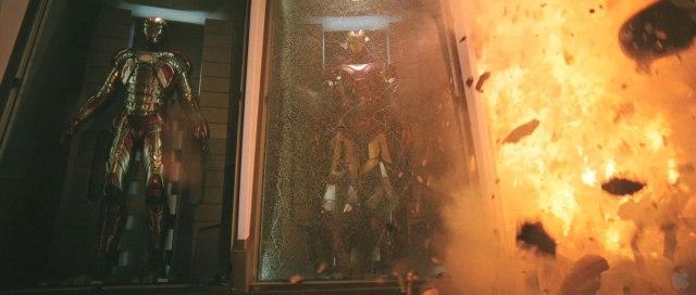 Iron Man 3 armors exploding