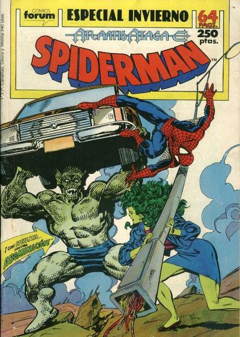 Spiderman especial invierno 1989 Atlantis Ataca