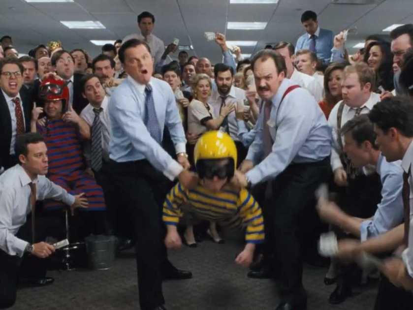 The Wolf of Wall Street dwarf tossing lanzamiento de enano