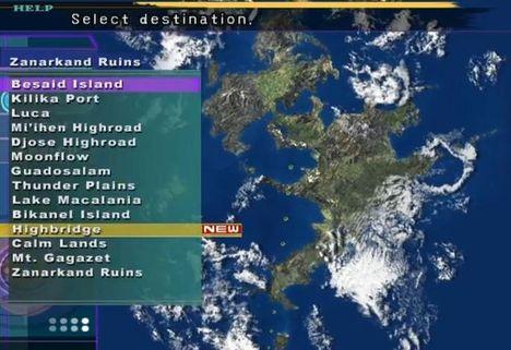 Final Fantasy X ship map