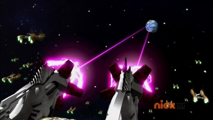 Power Rangers Super Megaforce efectos especiales invasion alienigena