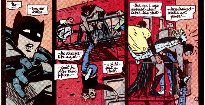 Batman Year One Batman not a killer