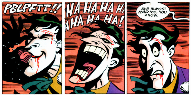 Joker Mad Love Muecas facial expressions