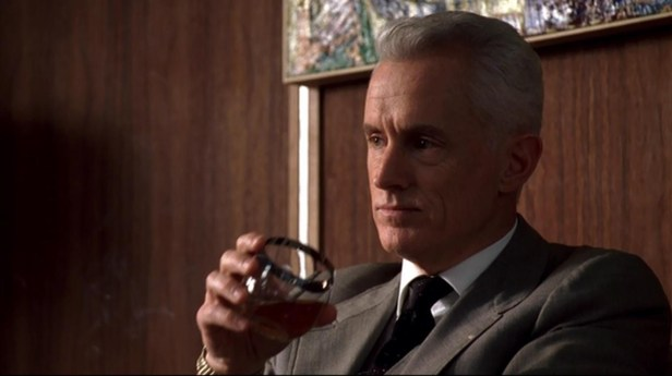 Roger Sterling drinking