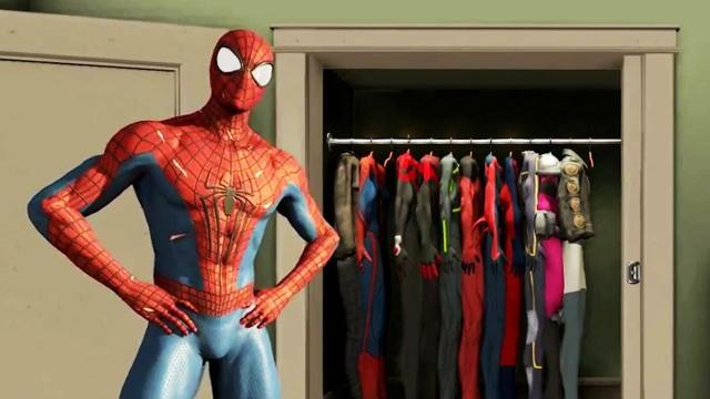 The-Amazing-Spider-Man-2-game wardrobe armario