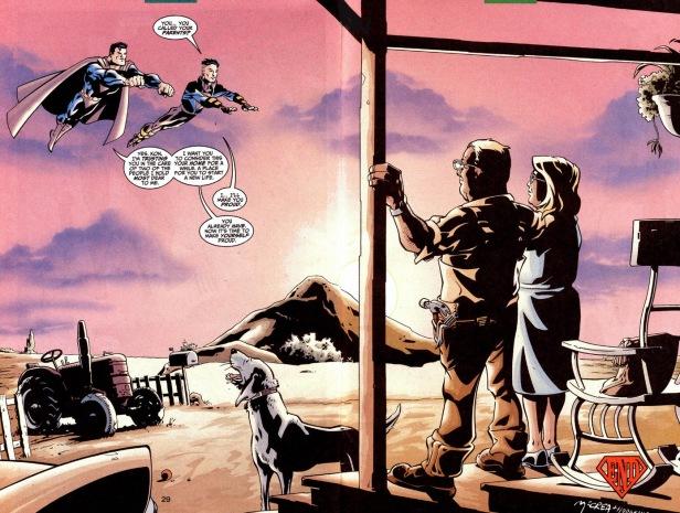 Superboy 100 end ma pa kent superman
