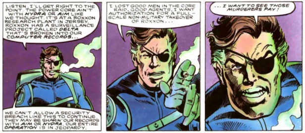 Nick Fury Furia vs SHIELD