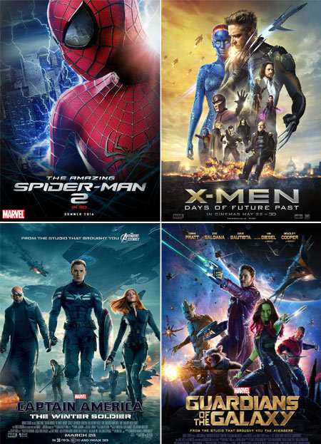 amazing-spiderman-2-x-men-days-future-past-captain-america-winter-soldier-guardians-of-the-galaxy
