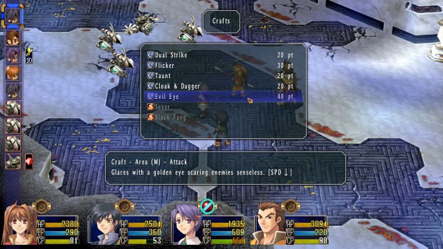 Legend of Heroes Trails in the Sky Battle