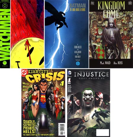 Watchmen-barman-dark-knight-kingdom-come-identity-crisis-injustice