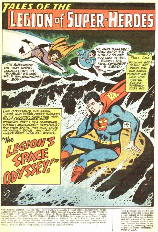 Adventure Comics 380 Space Odyssey
