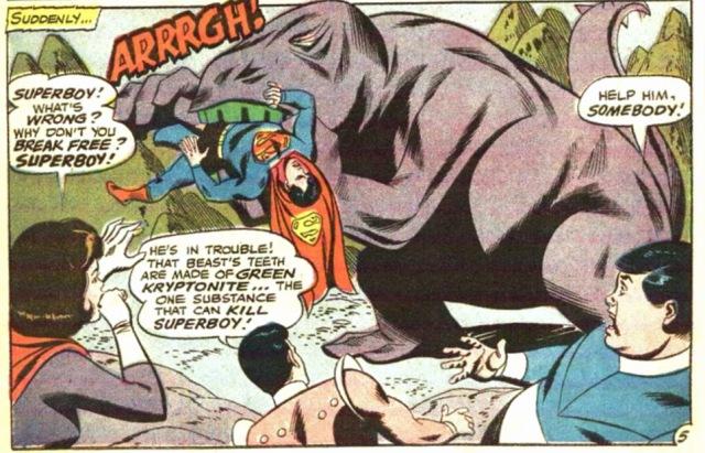 Adventure Comics 380 Superboy dinosaurio
