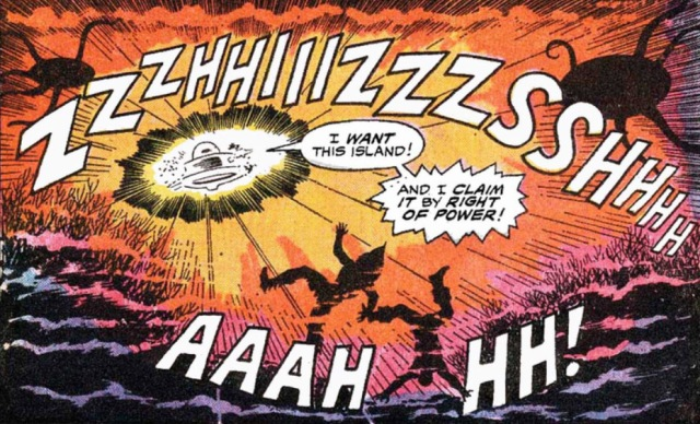 Doctor Doom attacks island right of power