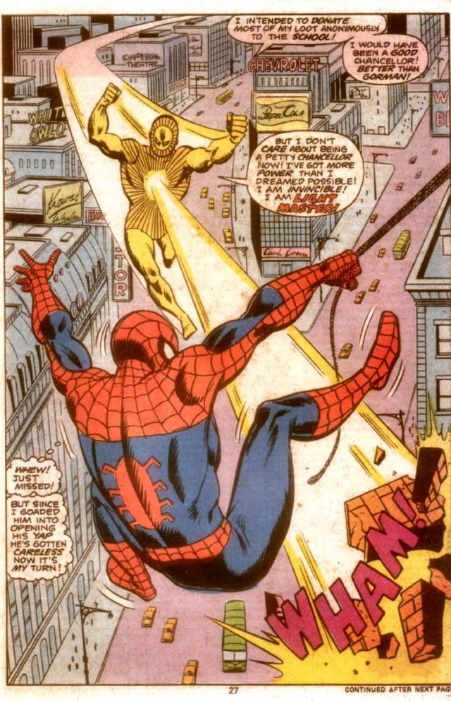 Peter Parker Spectacular Spider-Man 3 VS Lightmaster