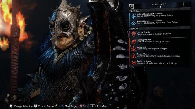 SHADOW OF MORDOR ork captain