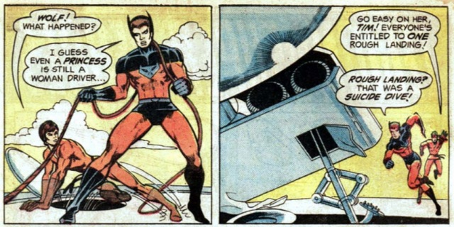 Superboy starring the Legion of Super-Heroes 209 Timber Wolf sexista
