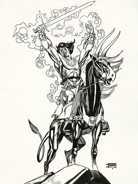 Gil Kane - Blackmark Pin-Up Original Art