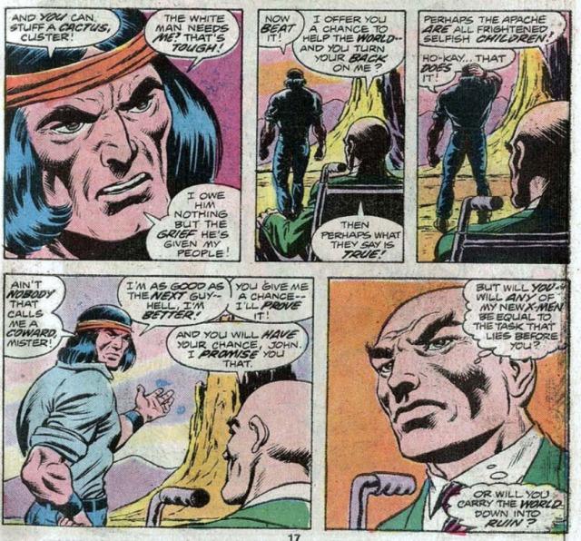 GIANT SIZE X-MEN 1 reclutando a Ave de Trueno Thunderbird
