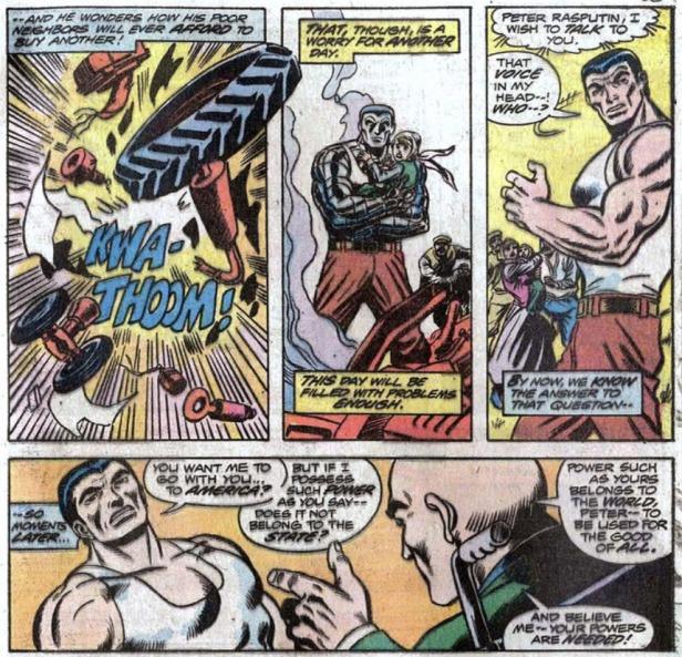 GIANT SIZE X-MEN 1 reclutando a Coloso Colossus