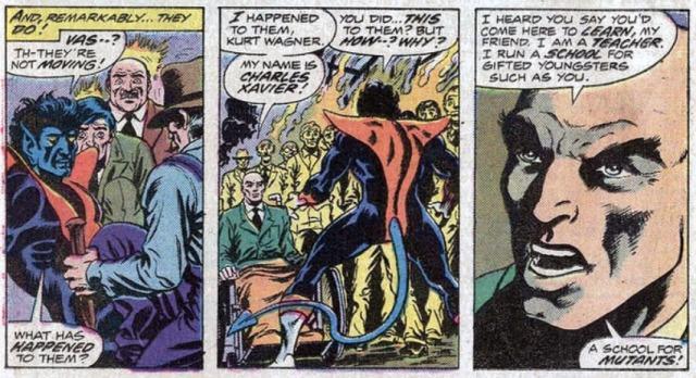 Giant-Size X-men reclutando a rondador nightcrawler 1