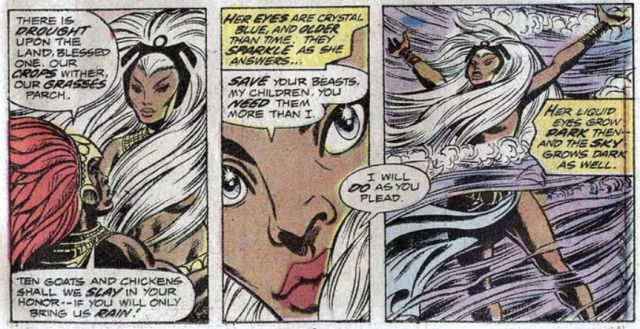 Giant-Size X-men reclutando a tormenta storm 1