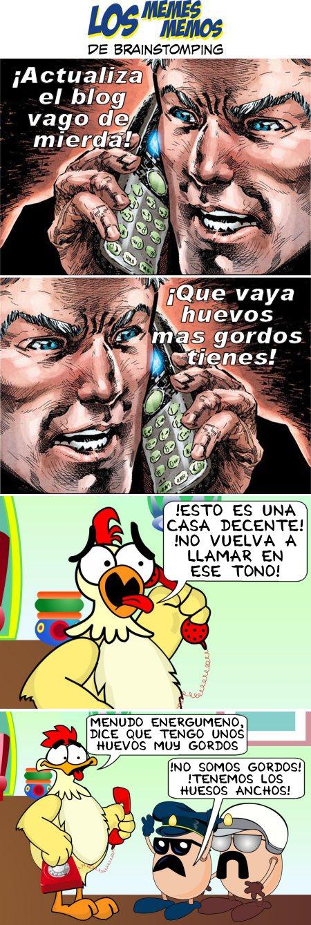 los-memes-memos-de-brainstomping-extraño-vs-pollo-huevos