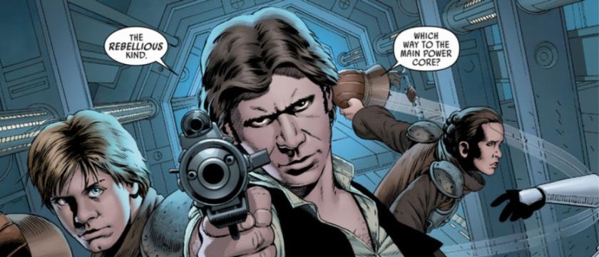 Marvel Star Wars Aaron Cassaday Han Luke Leia