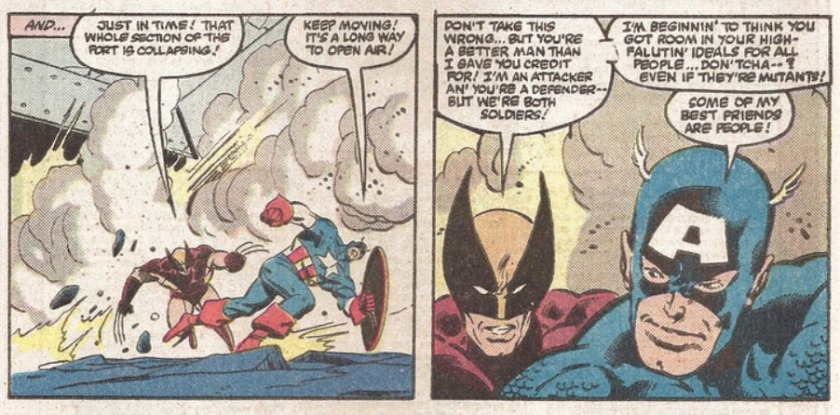 Wolverine Captain America Secret Wars some of my best friends are people