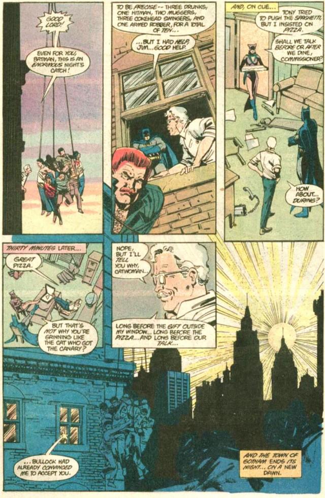 BATMAN 392 gordon catwoman