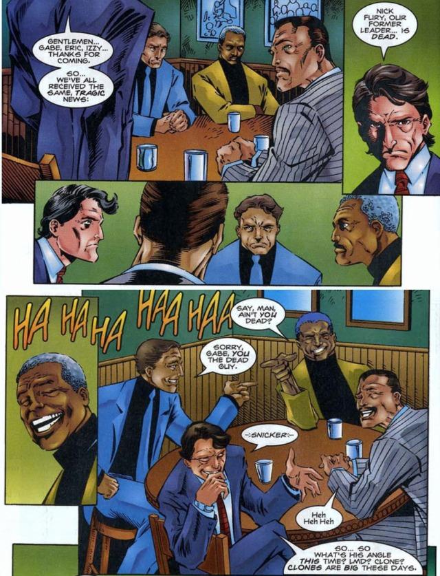 Nick Fury Dead Howling Commandos Hulk 425 Peter David