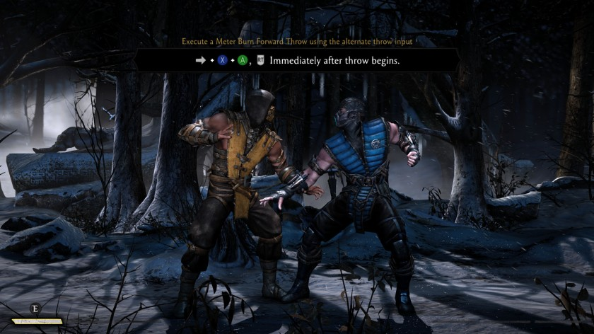Mortal Kombat X Scorpion SubZero training