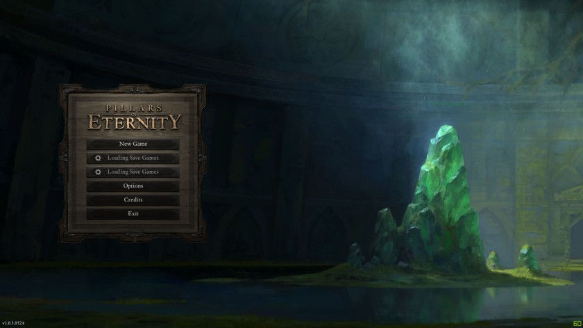Pillars of Eternity Menu
