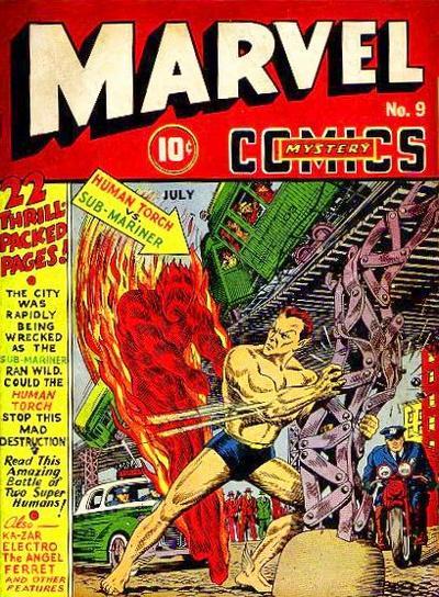 Marvel mystery comics 9 human torch vs namor submariner