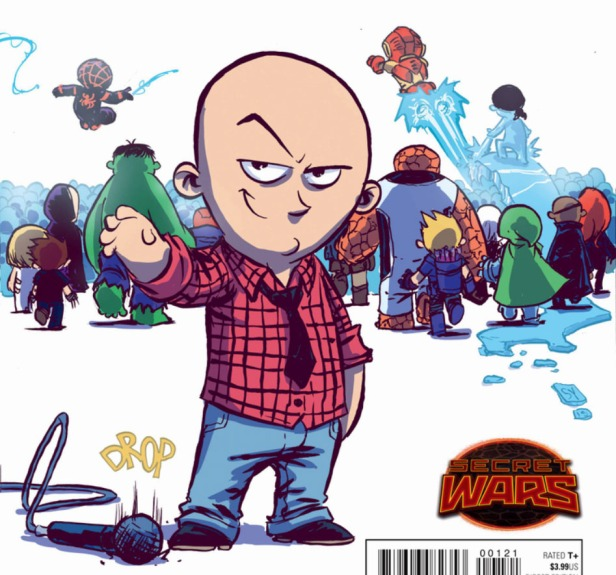 Ultimate End Bendis tirando micro skottie young