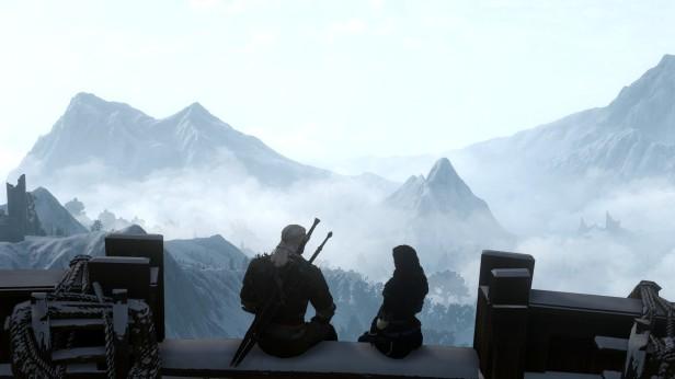 Witcher 3 Geralt Yennefer paisaje