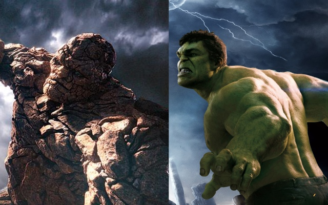 Fantastic Four 2015 Thing vs Hulk