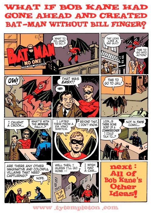 Ty Templeton Batman Bob Kane Bill Finger
