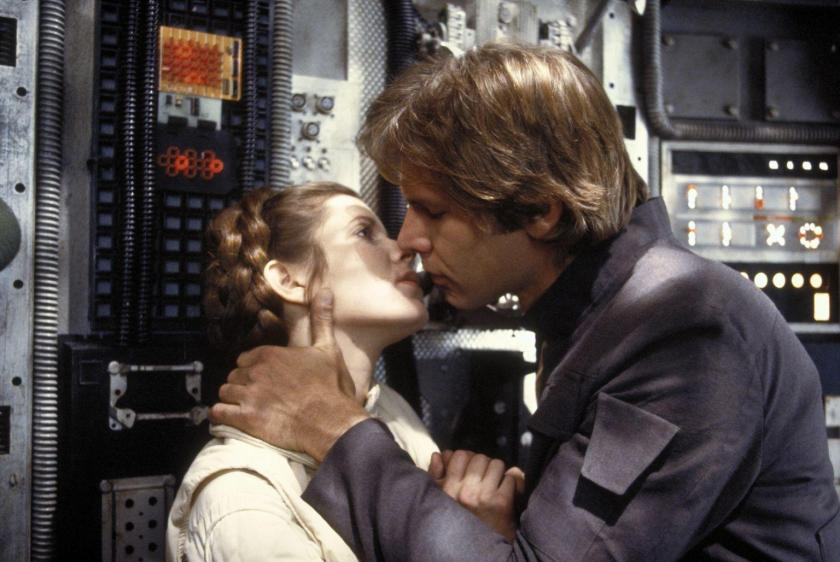 Empire Strikes Back Han Leia kiss