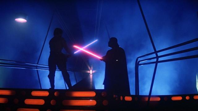 Empire Strikes Back Vader vs Luke