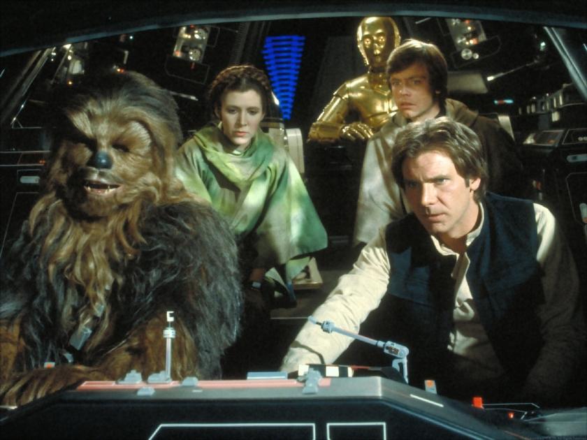 Return of the Jedi Han Luke C3PO Chewie Leia