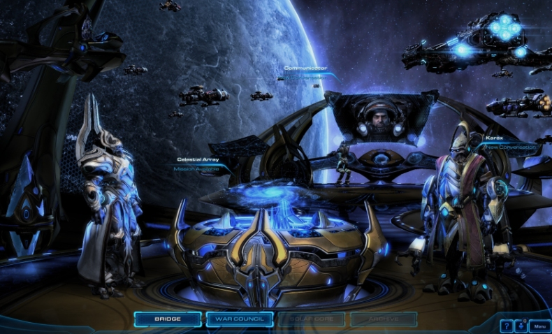 Starcraft II Spear of Adun bridge