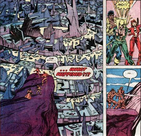 Power Man & Iron Fist kun lun destroyed